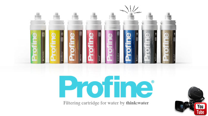 Profine water filtering cartridge